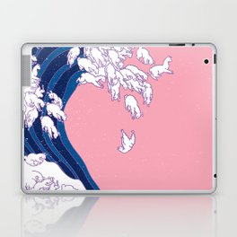 Llama Waves in Pink Laptop & iPad Skin