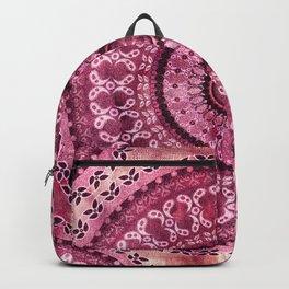 Vintage Burgundy Mandala Backpack