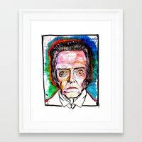 christopher walken Framed Art Prints featuring Christopher Walken by Eric Sokoloff