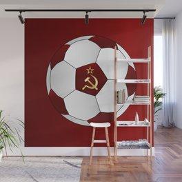 Russian Flag Icons Football Wall Mural