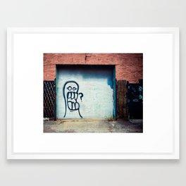 Bad Grit Graffiti Framed Art Print