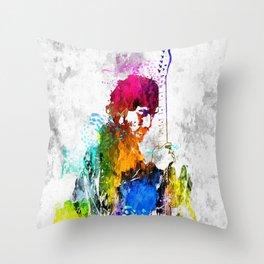 The Boss Bruce S. Grunge Throw Pillow