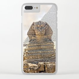 Sphinx  Egypt Clear iPhone Case