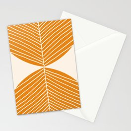 Minimal Fall Leaf Gold Stationery Cards