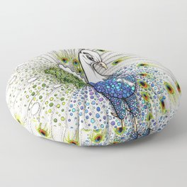 Pavo Real Floor Pillow