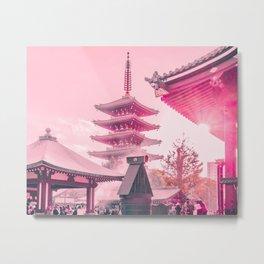 Pink Senso-Ji Metal Print