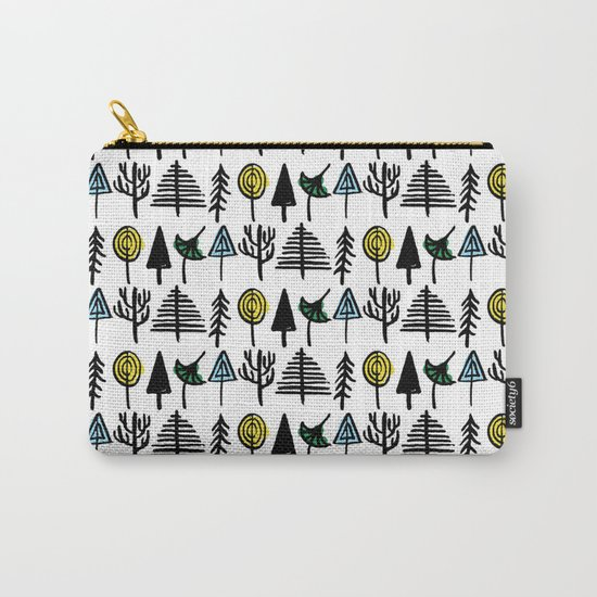 Hand drawn tree pattern Carry-All Pouch