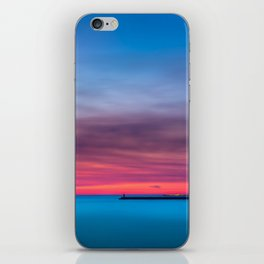 Red sunset over Porto iPhone Skin