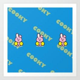 BTS Jungkook BT21 Cooky Art Print