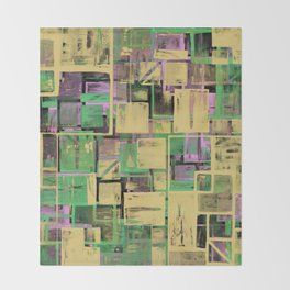 Pastel Thoughts - Abstract, textured, pastel painting Throw Blanket