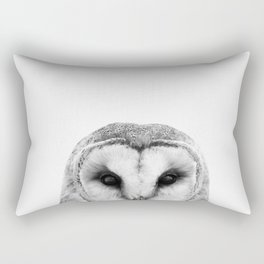 Black and white Owl Rectangular Pillow