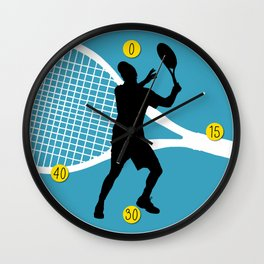 Tennis Indoor Smach Racket Wall Clock