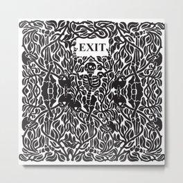 Skulls and Skeletons - Exit Sign Metal Print