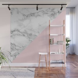Marble + Pastel Pink Wall Mural