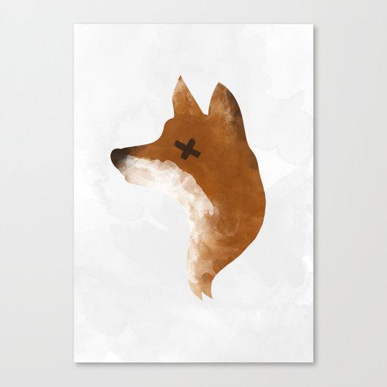 silent fox Canvas Print