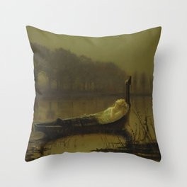 The Lady of Shalott, John Atkinson Grimshaw, 1875 Throw Pillow