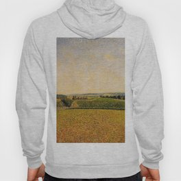 Railroad To Dieppe 1886 By Camille Pissarro   Reproduction   Impressionism Painter Hoody