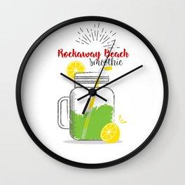 Rockaway Beach: Summer, sun, sea & smoothies Wall Clock