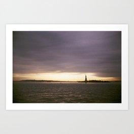 Liberty Stands Watch Art Print