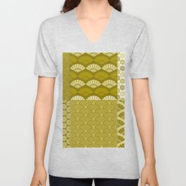 Vintage Golden Pattern Collection Unisex V-Neck