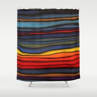 navajo Shower Curtains featuring Navajo Sunset by Alyssa Barclay