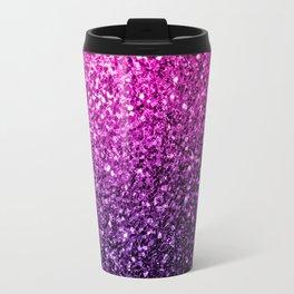 Purple Pink Ombre glitter sparkles Travel Mug