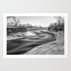 Down to the river Art Print