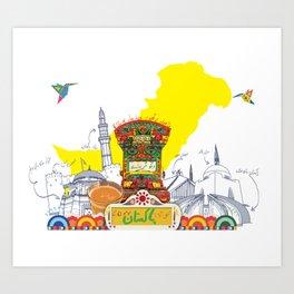 Truck Art Pakistan Art Print