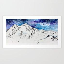 Blue Shuksan Art Print