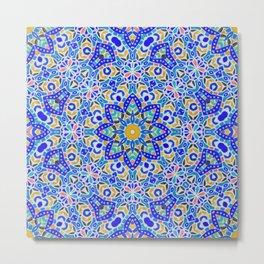 Arabesque kaleidoscopic Mosaic G512 Metal Print