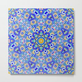 Arabesque kaleidoscopic Mosaic G512 Metal Print