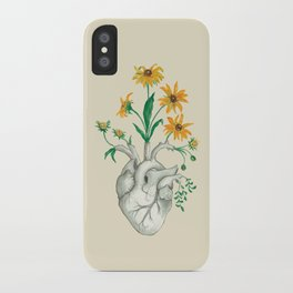 Floral Heart: Sunflower Human Anatomy Halloween Art iPhone Case