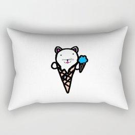 Ice Cream Cat Rectangular Pillow