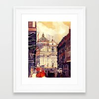 jenny liz rome Framed Art Prints featuring Rome by takmaj