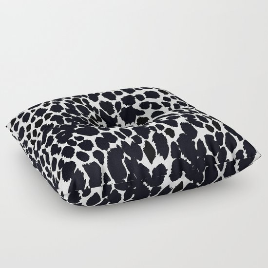 Animal Print Floor Pillows : ANIMAL PRINT CHEETAH #5 BLACK AND WHITE PATTERN Floor Pillow by Saundra Myles Society6