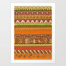 Yzor pattern 012 rich summer Art Print