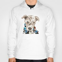 pit bull Hoodies featuring a pit bull day by bri.buckley