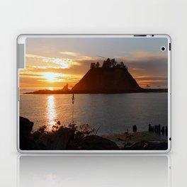 An Amazing Sunset Over First Beach Laptop & iPad Skin