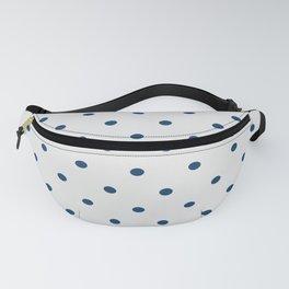Polka Dots Pattern Light Gray and Navy Fanny Pack