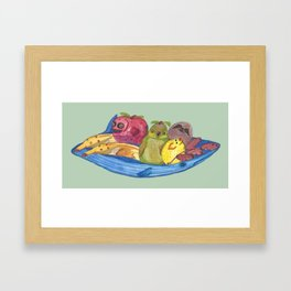 Fruit Bowl Animals Framed Art Print