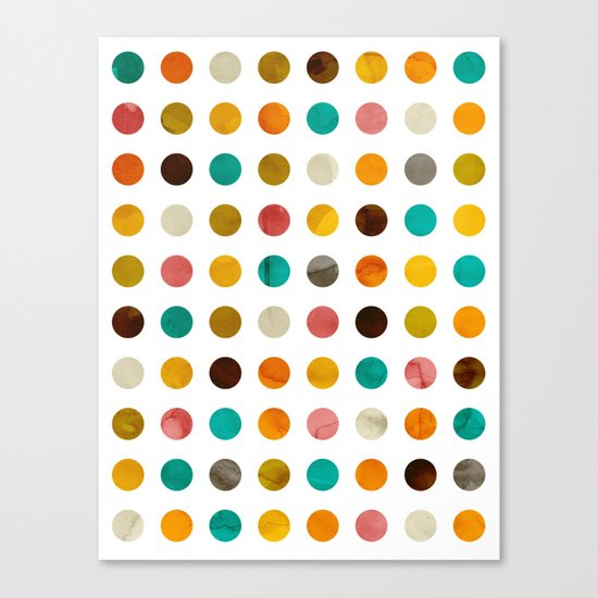Autumnal polka dot Canvas Print