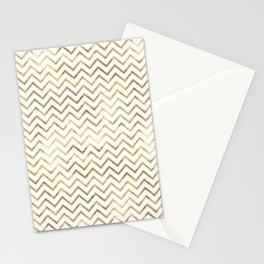 Gold Zig Zag Pattern Stationery Cards