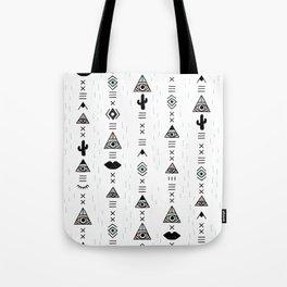 Native desert life print Tote Bag