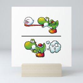 Farting Yoshi Mini Art Print