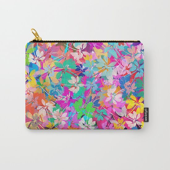 Floral abstract(47). Carry-All Pouch