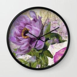 Paris Peony Wall Clock
