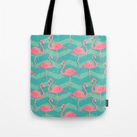flamingo Tote Bags featuring Flamingo by Julia