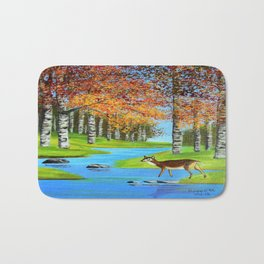 Birch trees in the fall  Bath Mat
