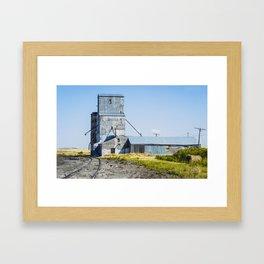Grain Elevator, Windham, Montana Framed Art Print