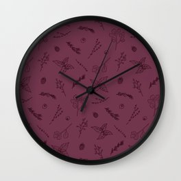 Herbs and Berries Wall Clock